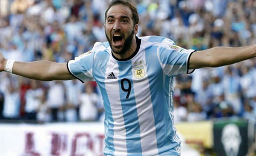 Poker dell'Argentina, Higuaìn ne fa due e va in finale