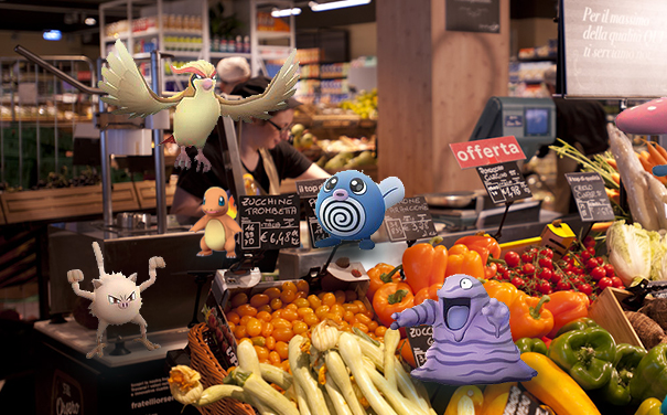 Al supermercato c'è l'invasione dei Pokemon