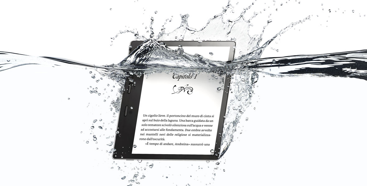 Kindle Oasis, resiste anche all'acqua