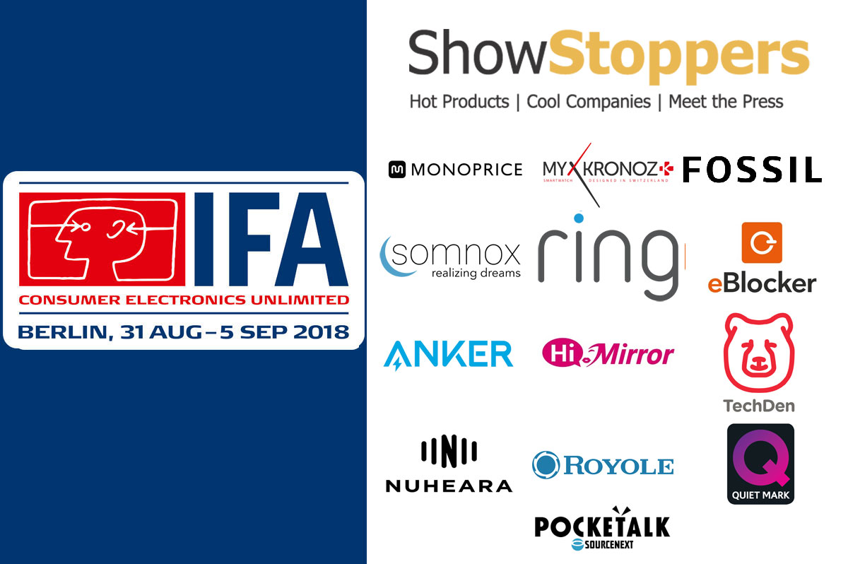IFA 2018: SHOWSTOPPERS